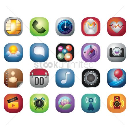 Comment : Collection of mobile icons