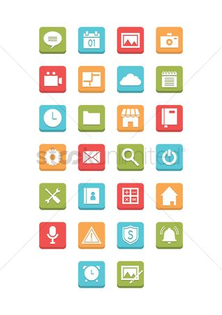 Notification : Collection of mobile icons