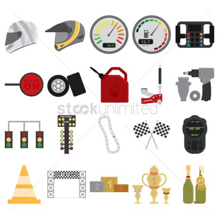 Car speedometer : Collection of motor race equipment