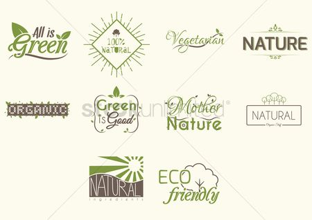 Logo : Collection of nature icons