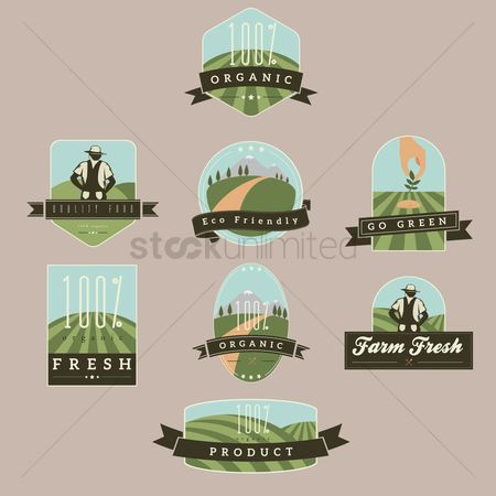 Fresh : Collection of nature labels