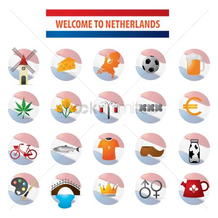 Wooden sign : Collection of netherlands icons
