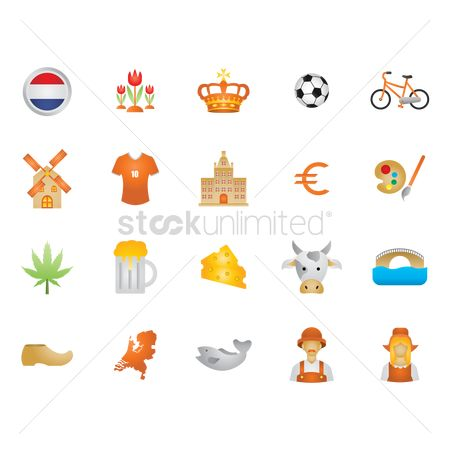 Dairies : Collection of netherlands icons