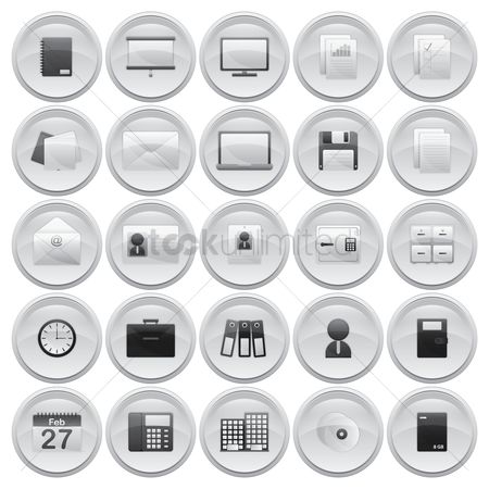 Office  building : Collection of office icons