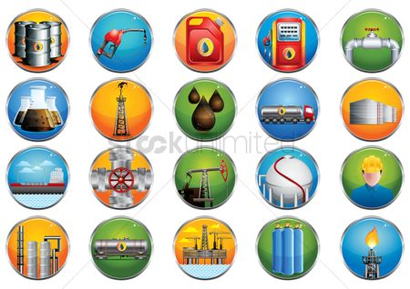 Petroleum : Collection of oil and gas related icons