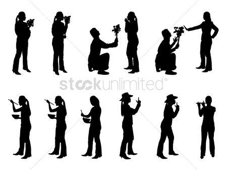 Proposal : Collection of people silhouettes