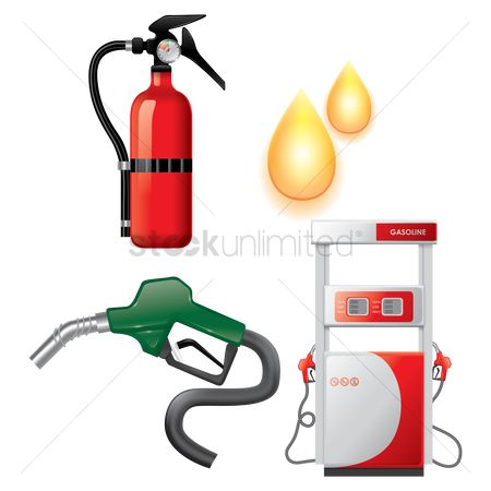 Drips : Collection of petrol station items