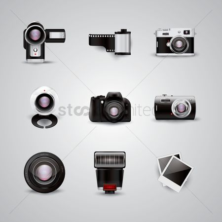 Cameras : Collection of photography icons