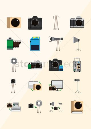 Lighting : Collection of photography icons