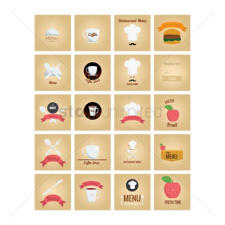 Fresh : Collection of restaurant icons