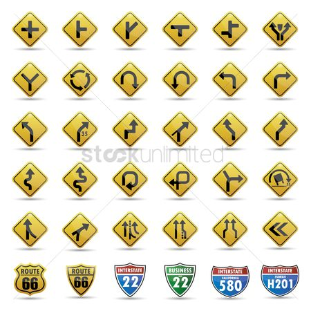 Interstates : Collection of road signs