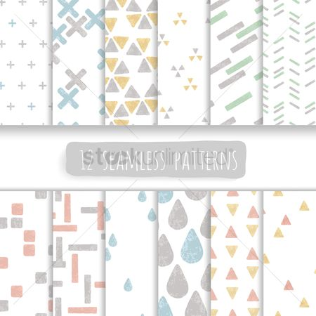 Wallpaper : Collection of seamless patterns