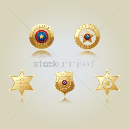 Authority : Collection of sheriff star badges