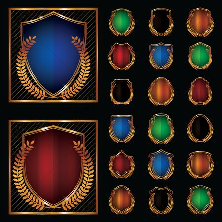 Laurel : Collection of shield emblems