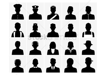 Doctor : Collection of silhouette people