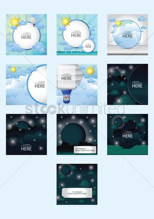 Brochure : Collection of sky templates