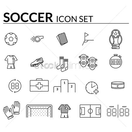 Whistle : Collection of soccer icons