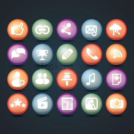 Shutters : Collection of social media icons