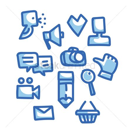 User interface : Collection of social media icons