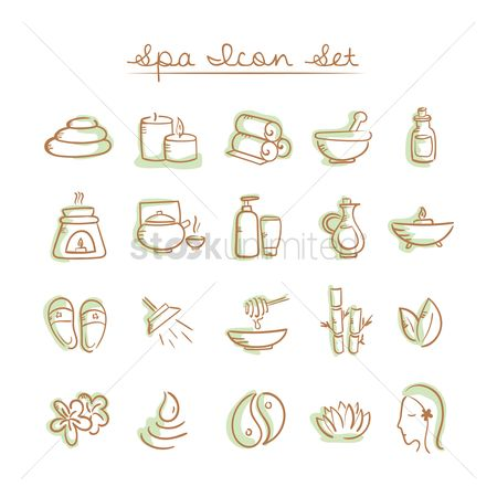 Zen : Collection of spa icon set