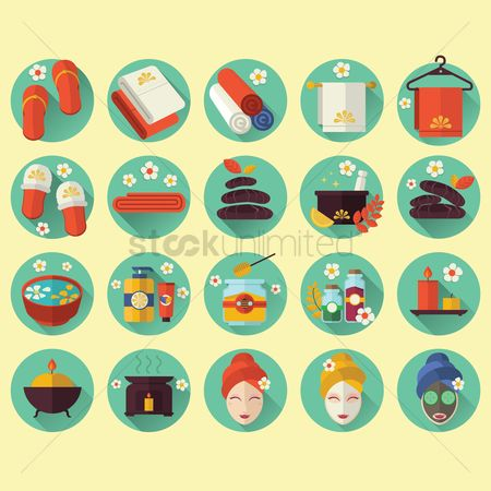 Products : Collection of spa icons