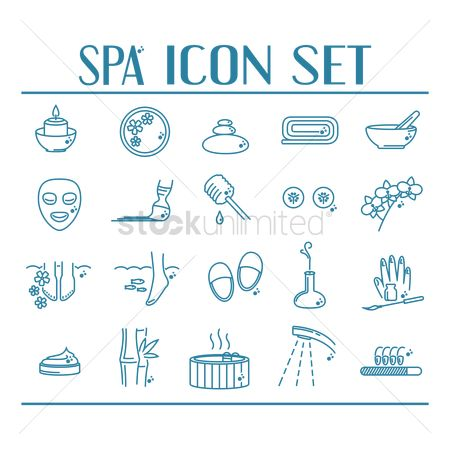 Fragrance : Collection of spa icons