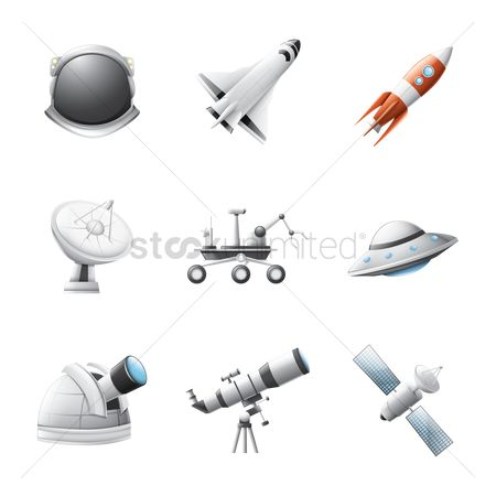 Spaceships : Collection of space icons