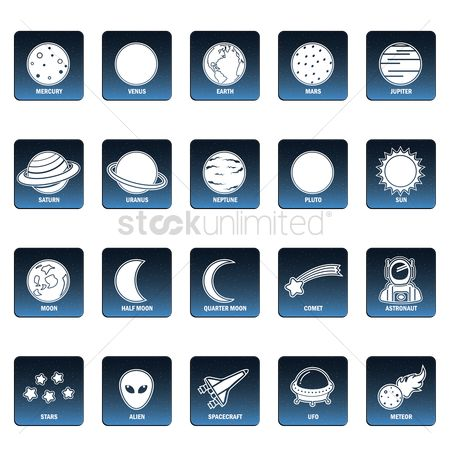 Spaceship : Collection of space icons