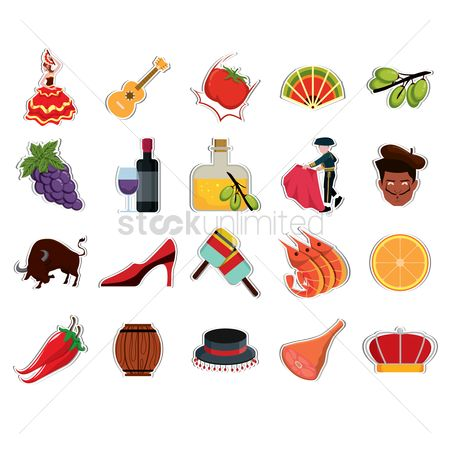 Fruit : Collection of spain icons