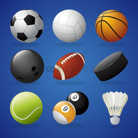 Footballs : Collection of sports equipment