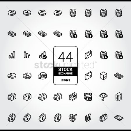 Increase : Collection of stock exchange icons