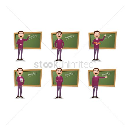 Teaching : Collection of teacher in various activities