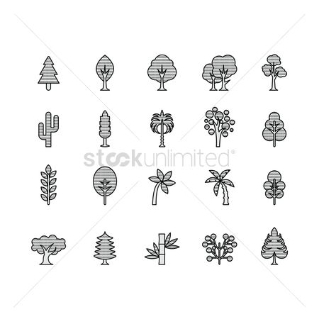 Cactuses : Collection of tree icons