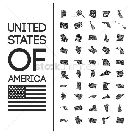 United states : Collection of united states of america