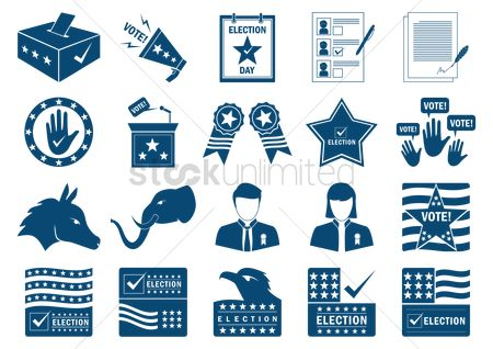 Check mark : Collection of usa election designs
