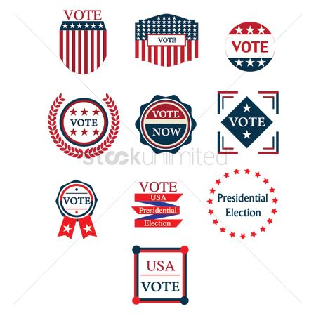 Laurel : Collection of usa election labels