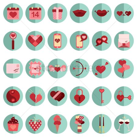 Love speech bubble : Collection of valentine s day icons