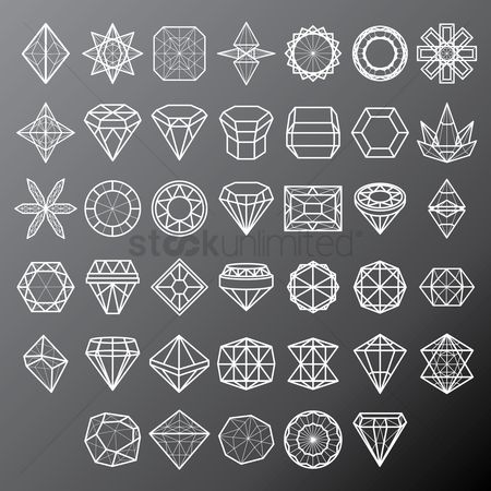 Geometric : Collection of various diamond and polygon structures