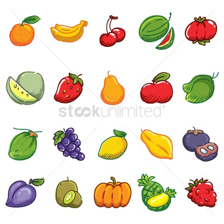 Watermelon : Collection of various fruits