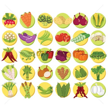 Greens : Collection of vegetable sets