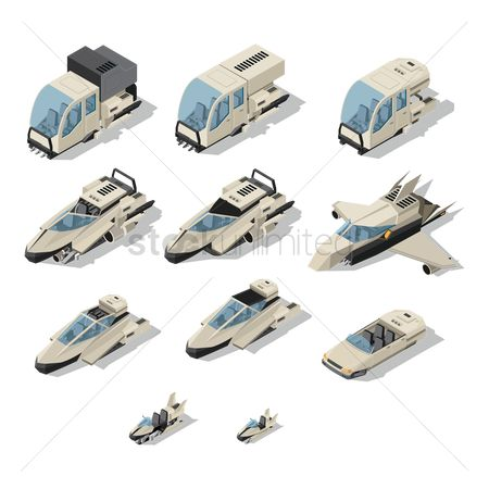 Spaceships : Collection of vehicles