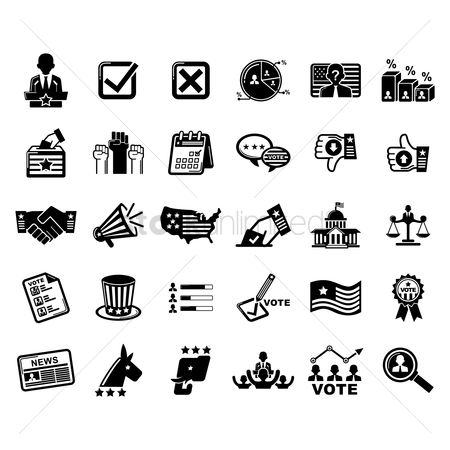 America : Collection of voting and election icons