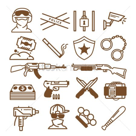 Brass : Collection of weapon related icons