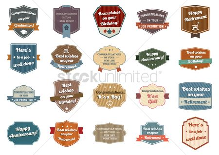 Weddings : Collection of well wishing labels
