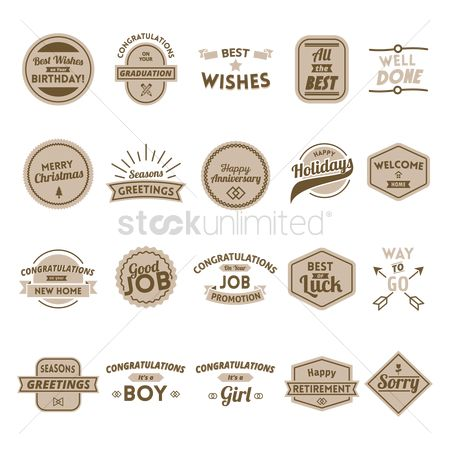 Weddings : Collection of wish labels