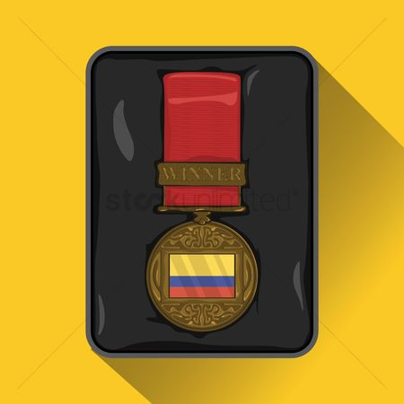 Challenges : Colombia flag on medal
