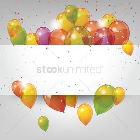 Party : Colorful balloons concept