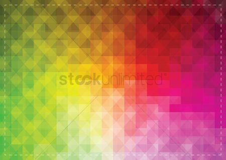 Borders : Colorful faceted background
