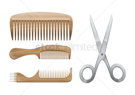 Hardwares : Combs and scissors