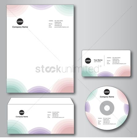 Address : Company paper  envelope  business card and cd